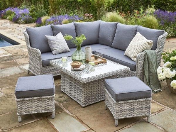 Wroxham Mini Garden Corner Sofa Set - In Situ