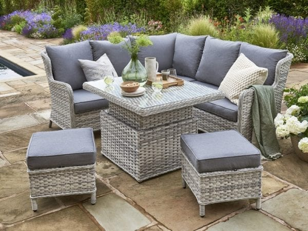 Wroxham Mini Corner Sofa Set - Table Extended