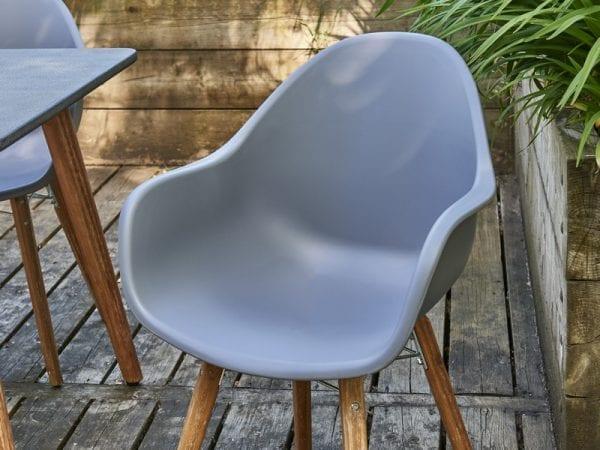 Zari Four Seat Round Garden Dining Set - Chair Close Up