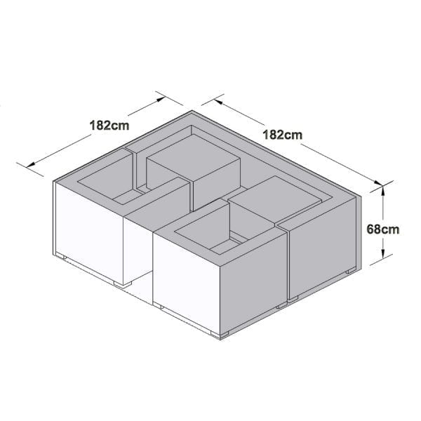Outdoor Cover for 3 Seat Sofa Set