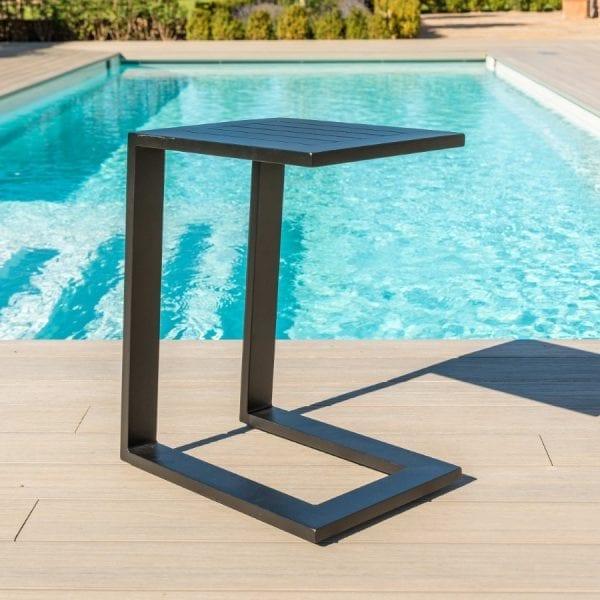 Aluminium Side Table - Black