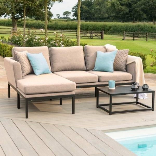 Pulse Chaise Sofa Set - Taupe