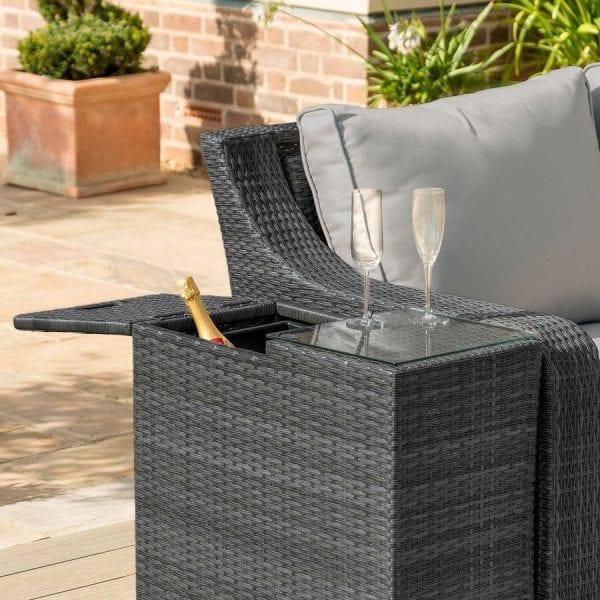 Ice Bucket Side Table - Grey