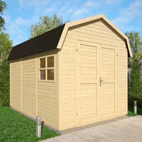 11x8 Dutch Barn - Unpainted Natural 5013856995883
