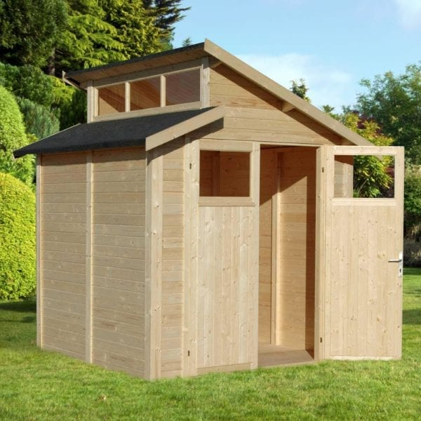 7'x7' Shed With Skylight - Natural