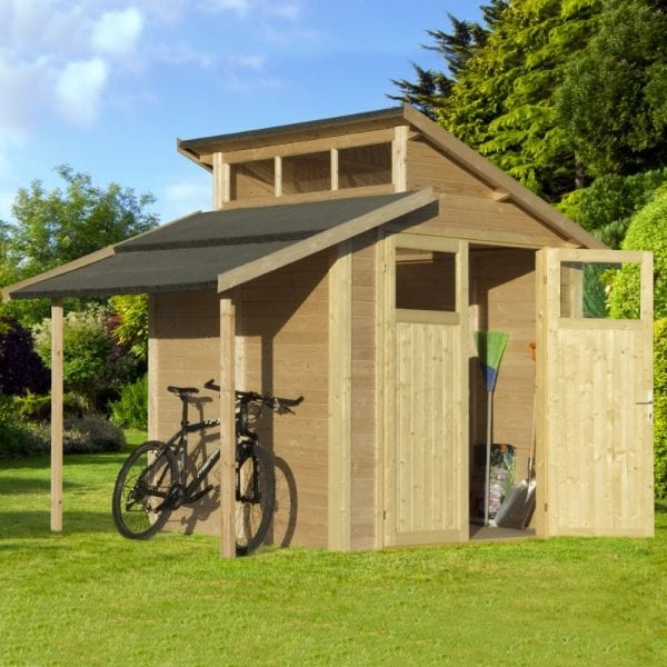 7'x10' Lean To Shed With Skylight - Natural