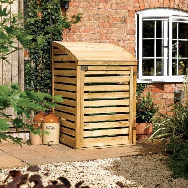 Wooden Single Bin Store
