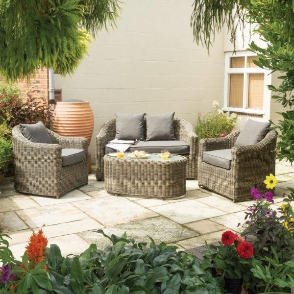 Bunbury Sofa Set Natural Weave 5013856996019