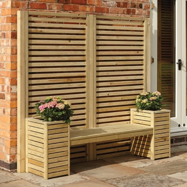 Wooden Planter Seat Set