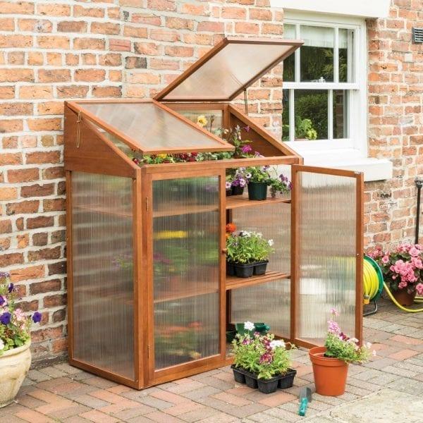 Hardwood Mini Greenhouse 5013856998228