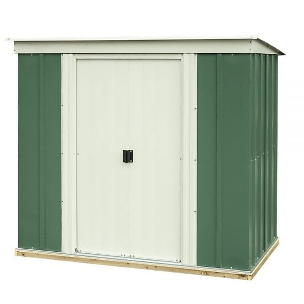 6'x4' Greenvale Metal Pent Shed With Floor