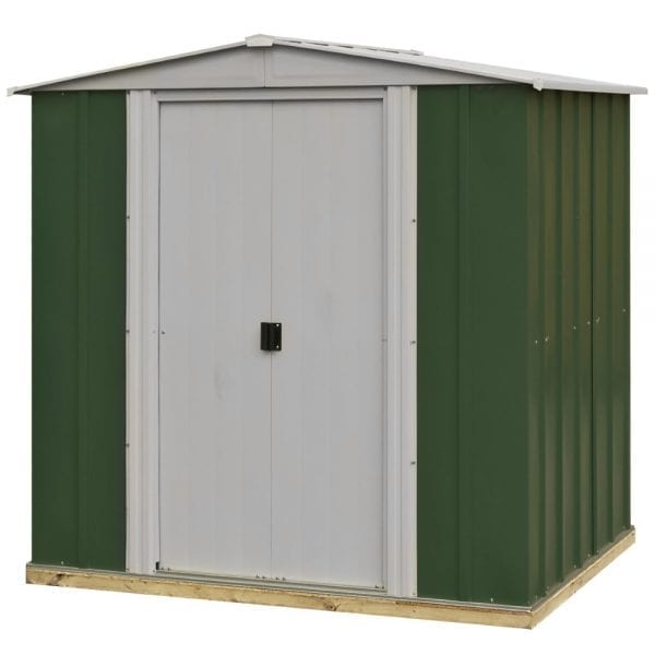 6x5 Greenvale Metal Apex Shed With Floor 5013856993292