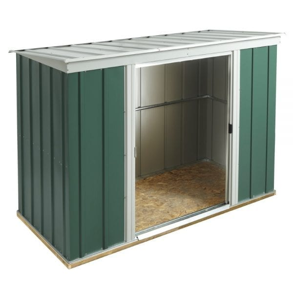 8x4 Greenvale Metal Pent Shed With Floor 5013856993339