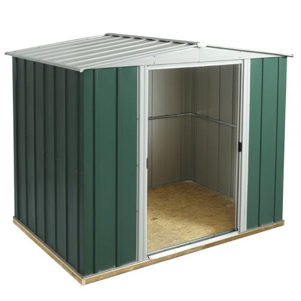 8x6 Greenvale Metal Apex Shed With Floor 5013856993308