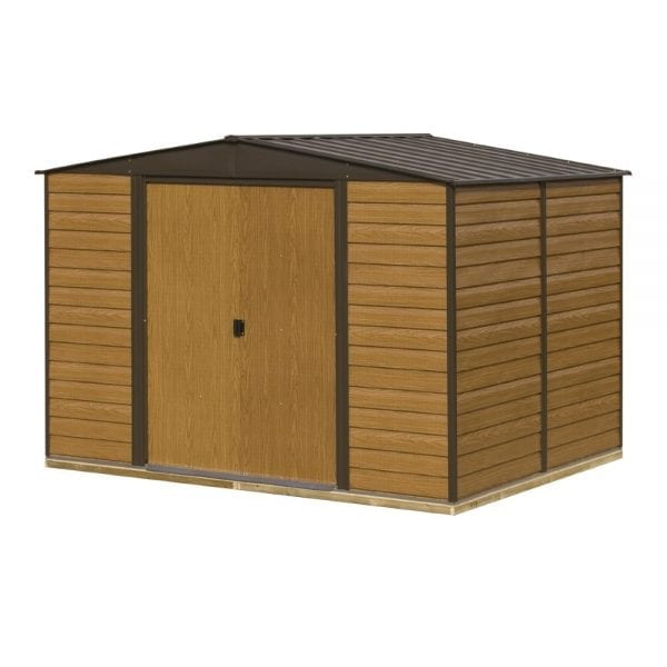 10x8 Woodvale Metal Apex Shed With Floor 5013856015505