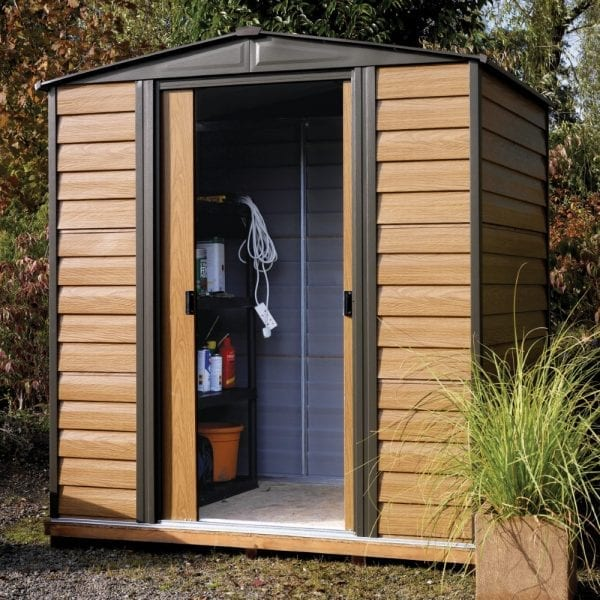 6x5 Woodvale Metal Apex Shed With Floor 5013856015475