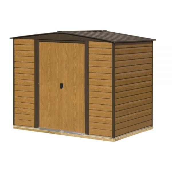 8x6 Woodvale Metal Apex Shed With Floor 5013856015482