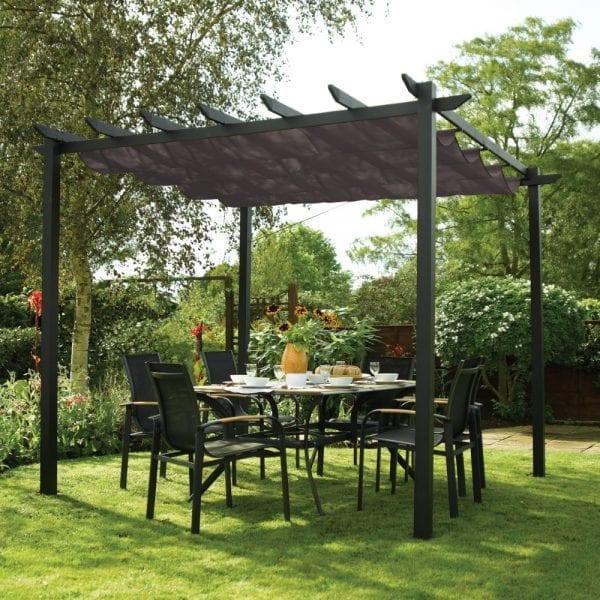 Latina 3x3m Canopy - Grey
