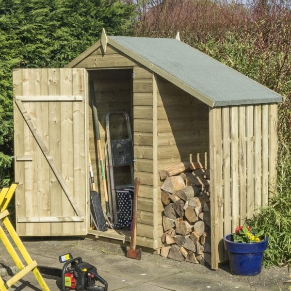 Oxford 4x3 Shed With Lean To 5013856996101