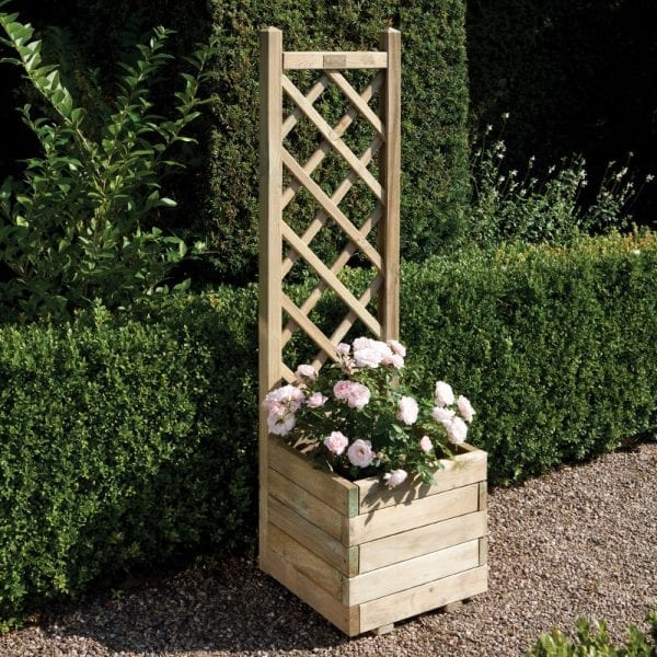 Square Planter & Lattice 5013856001744