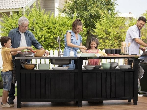 Keter Unity Chef - BBQ Table In Situ