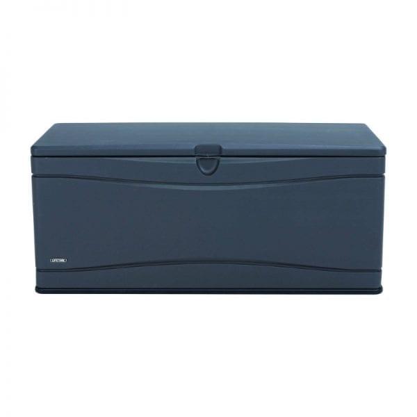 Lifetime 500L Outdoor Storage Box - Dark Grey - Front