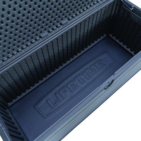 Lifetime 500L Outdoor Storage Box - Dark Grey - Inside
