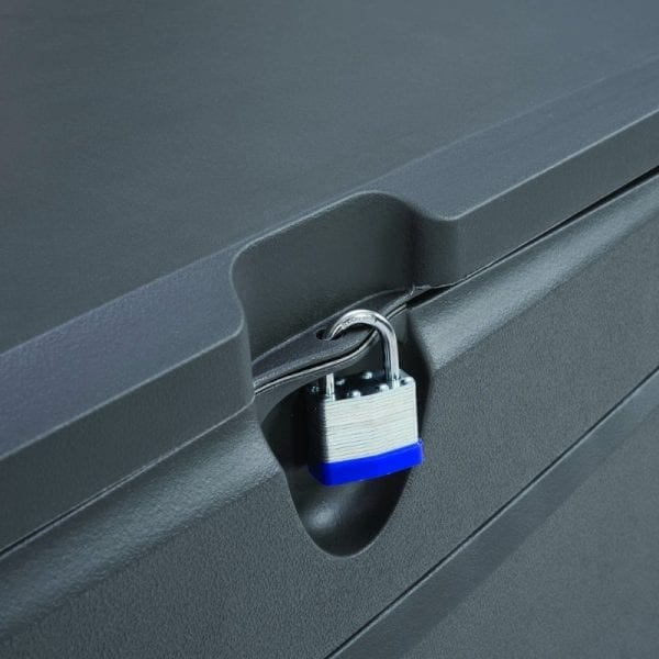 Lifetime 500L Outdoor Storage Box - Dark Grey - Lockable