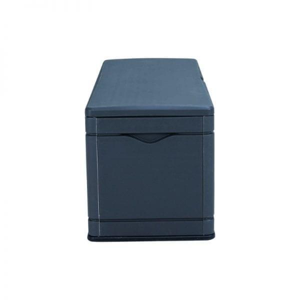 Lifetime 500L Outdoor Storage Box - Dark Grey - Side