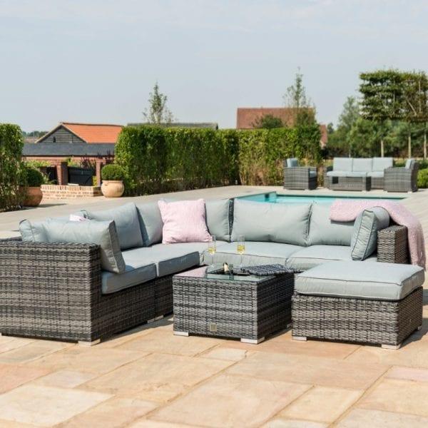 London Garden Sofa Set With Ice Bucket Table