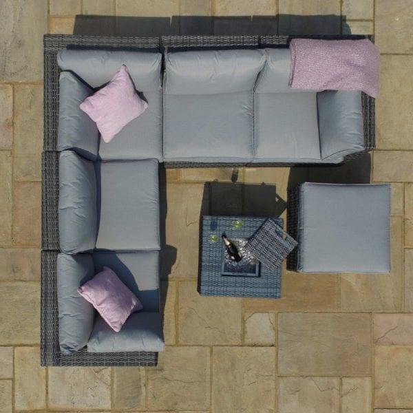 London Rattan Garden Sofa Set - Grey