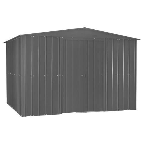 Lotus 10x10 Shed Anthracite Grey - Doors Closed