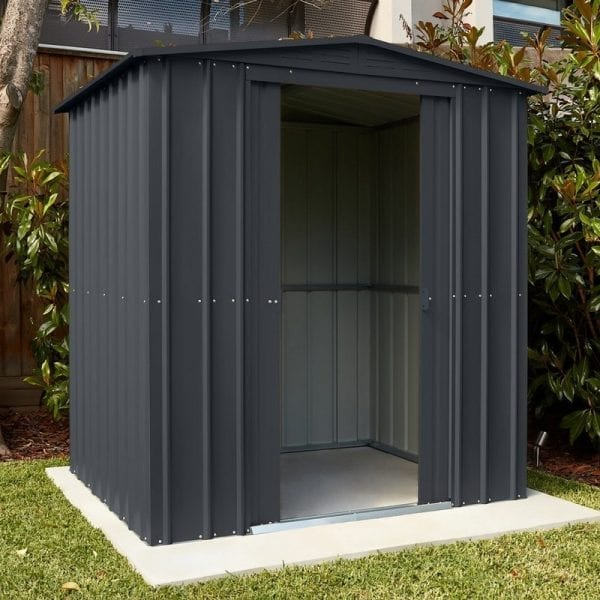 Lotus 8x8 Shed Anthracite Grey - Installed