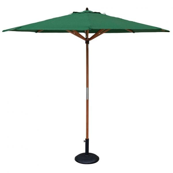 Willington Green 2.7m Wooden Parasol + Base