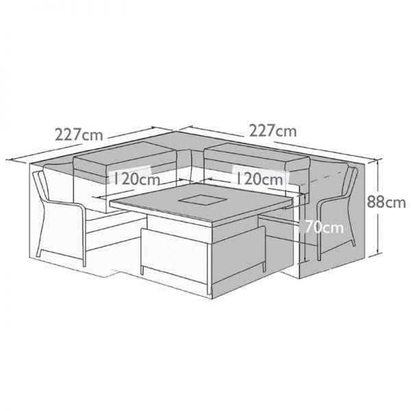 Outdoor Cover for Royal Corner Dining Set