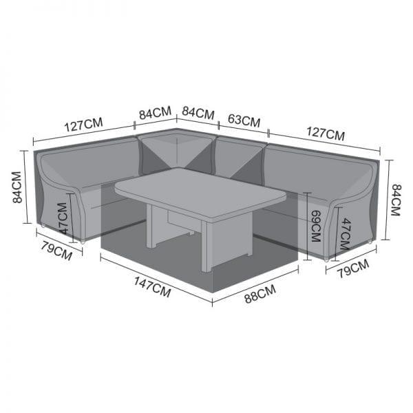 Corner Dining Set Cover - Oyster