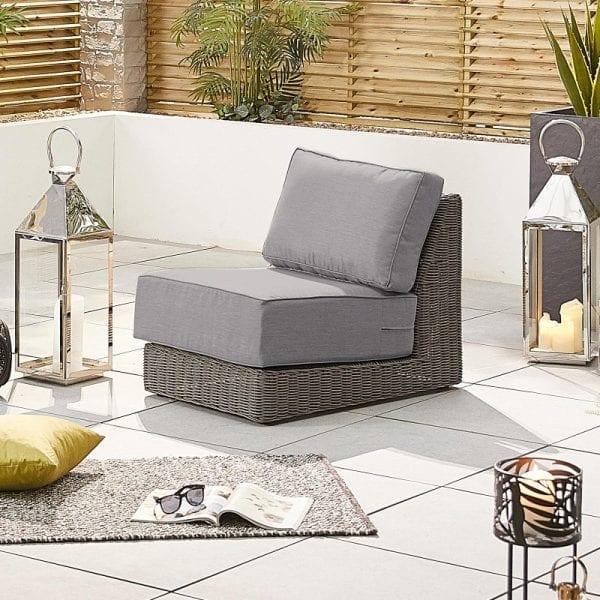 Heritage Luxor Middle Sofa Piece - Slate Grey
