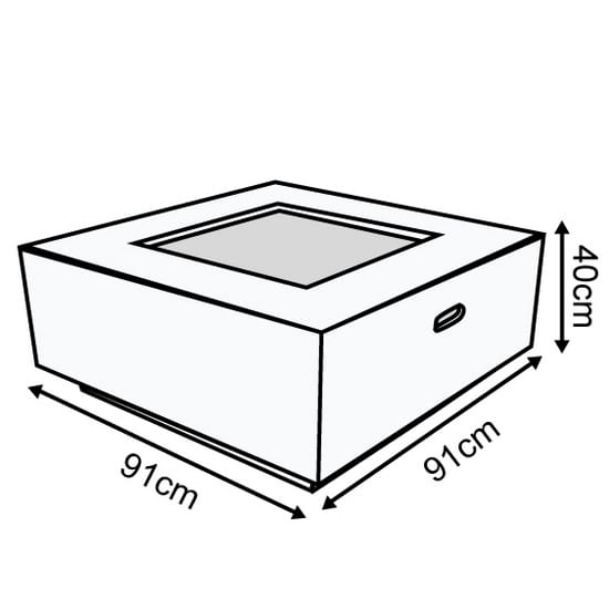 Albany Square Firepit Dimensions