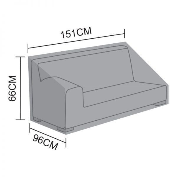 Sofa Piece Cover for Luxor - 2 Seat Right Bench