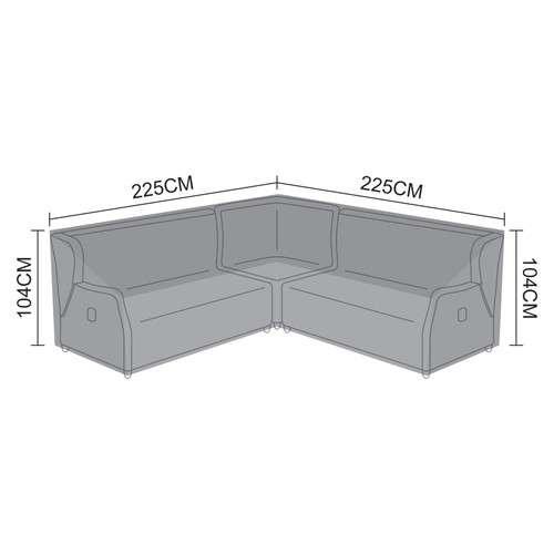 Corner Dining Set Cover for Skylar Deluxe - Corner Sofa