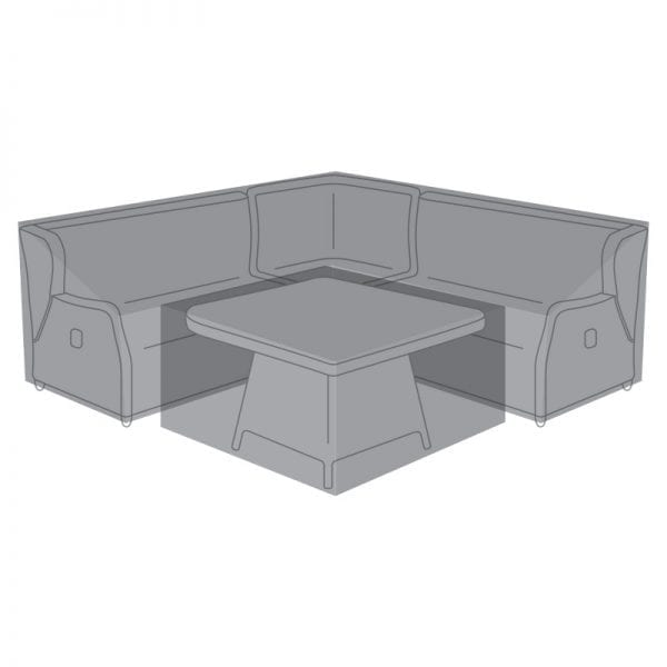 Corner Dining Set Cover for Skylar Deluxe w/ Fire Pit Table