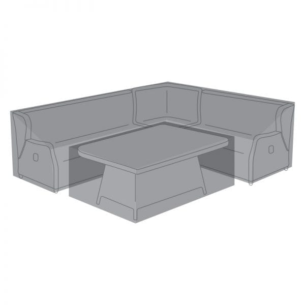 Corner Dining Set Cover for Skylar w/ Fire Pit Table