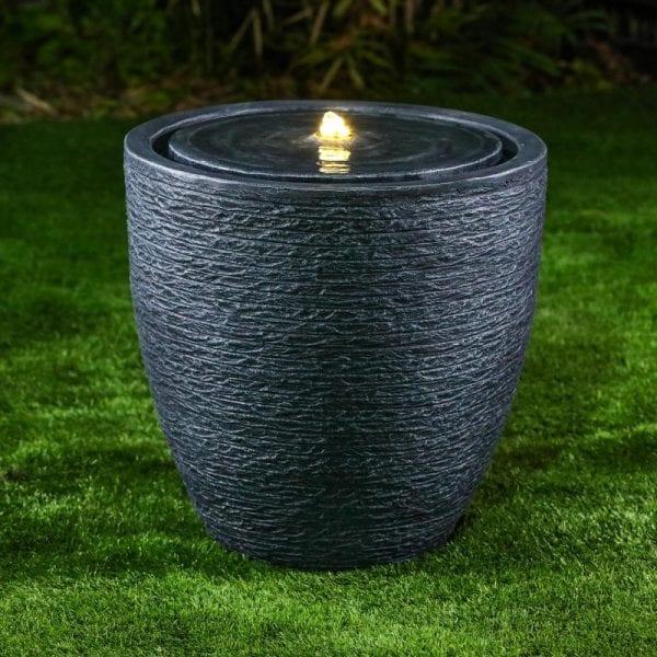 Jalen Water Feature w/ 1 LED - Dark Grey - 54 x 70cm