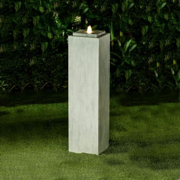 Shiloh Water Feature w/ 1 LED - Light Grey - 30x30x113cm