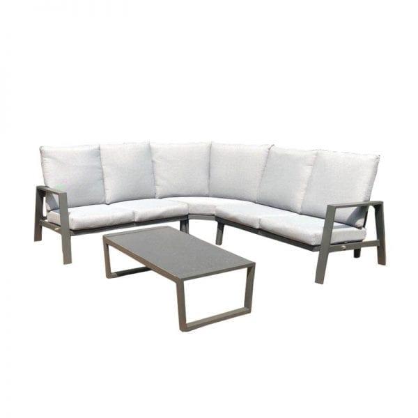Enna Reclining Corner Sofa Set - Grey