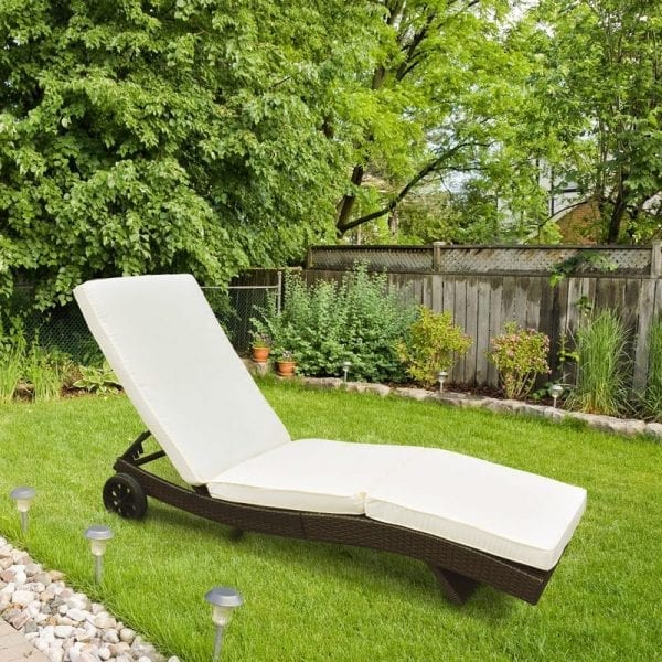 6349 - Sun Lounger With Wheels