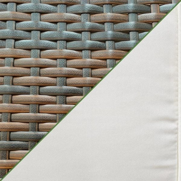 Chelsea Garden Co - Brown Rattan Weave & Ivory Cushions Close Up