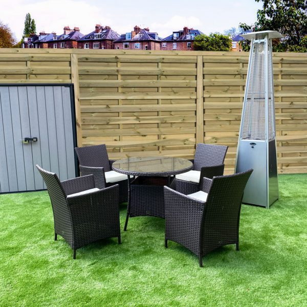 Four Seat Rattan Dining Set - Product Image