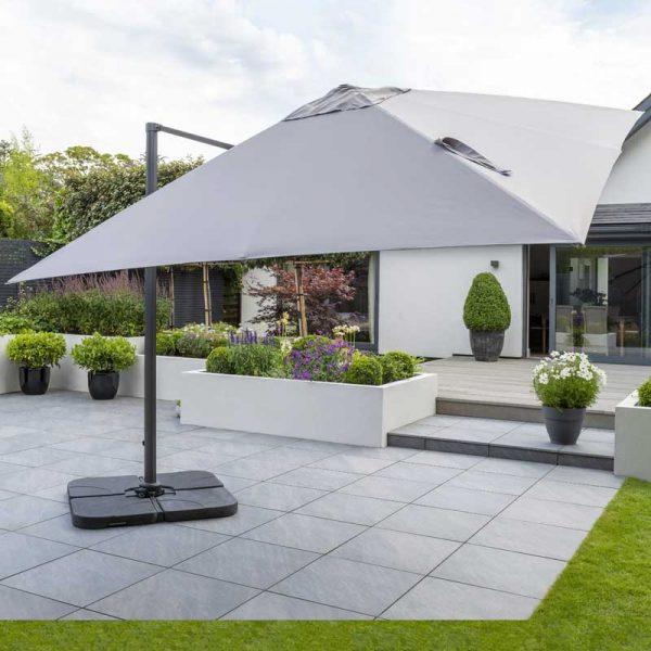 Royce Executive Standard Parasol - Soft Grey
