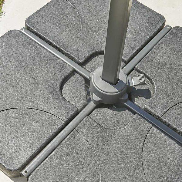 Royce 100kg Plastic Covered Concrete 4 Part Base